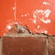 Brick and plaster wall. - Stock Photo