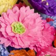 Paper flowers. - Stock Photo