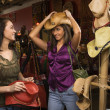 Stock Photo: Young Women Shopping