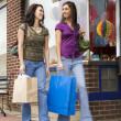 Young Women Shopping - Stockfoto