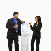 At water cooler. — Stock Photo