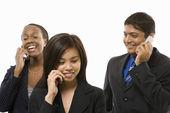 Business phone calls. — Stock Photo
