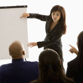 Businesswoman giving presentation. — Stock Photo