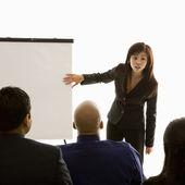 Business presentation. — Stock Photo