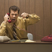 Angry businessman. — Stock Photo