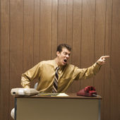 Businessman screaming. — Stock Photo