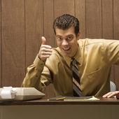 Zadowolony biznesmen. — Zdjęcie stockowe