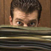 Man with files. — Stockfoto