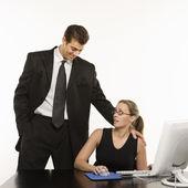 Office harassment. — Stock Photo