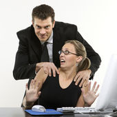 Sexual harassment. — Stock Photo