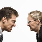 Man versus woman. — Stock Photo