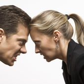 Face off. — Stock Photo