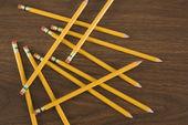Pencils on desk. — Stock Photo