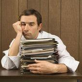 Overworked businessman. — Stock Photo