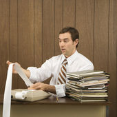 Man doing office work. — Stock Photo