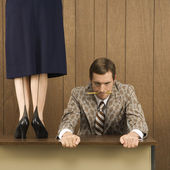 Man resisting woman. — Stock Photo