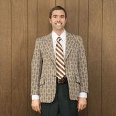 Retro podnikatel. — Stock fotografie