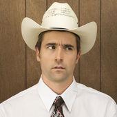 Man wearing cowboy hat. — Stock Photo