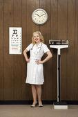Retro nurse. — Stock Photo