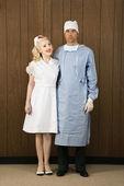 Surgeon and nurse. — Stock Photo