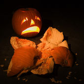 Smashed pumpkin. — Stock Photo