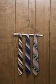 Retro ties on hanger. — Stock Photo