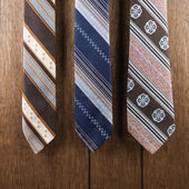 Retro pattern neckties. — Stock Photo