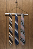 Retro patterned neckties. — Stock Photo