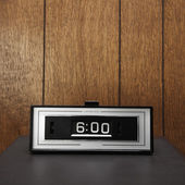 Retro flip clock. — Stock Photo