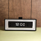 Retro clock set for 12:00. — Stock Photo