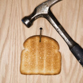 Toasted bread. — Stock Photo