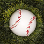 Beyzbol çimenlerin üzerinde. — Stok fotoğraf