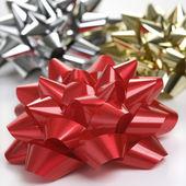 Three Christmas bows. — Stock Photo