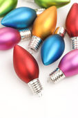 Multicolored Christmas ornaments. — Stockfoto