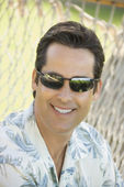 Man wearing sunglasses. — Stock Photo