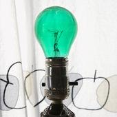 Green light bulb. — Stock Photo
