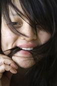 年轻漂亮的亚洲女人. — 图库照片