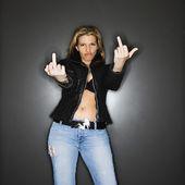 Woman gesturing. — Stock Photo