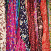 Colorful Fabric and Scarves — Stock Photo