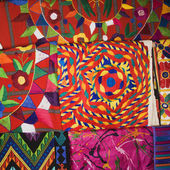 Colorful tapestries. — Stock Photo
