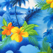 Stockfoto: Tropical fabric detail.