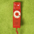 Retro red telephone. — Stock Photo