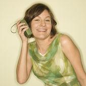 Woman listening to music. — Stock Photo