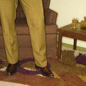 Pair of male legs. — Stock Photo