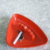 Vintage plastic ashtray. — Stock Photo