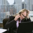 Stressed-Out Businesswoman — Stock Photo
