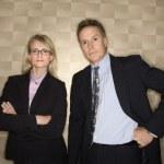 ビジネスマンやビジネスウーマンの肖像画 — ストック写真