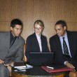 Businesspeople Looking at Laptop — Stock Photo