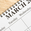 March on calendar. — Stock Photo