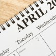 April on calendar. - Stock Photo